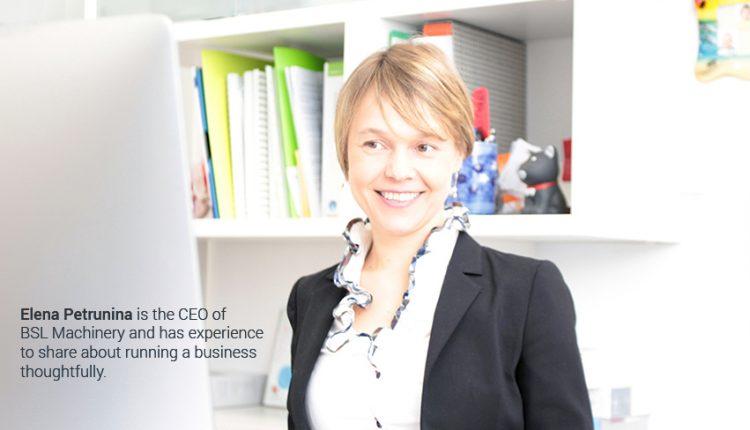 Elena Petrunina, CEO BSL Machinery
