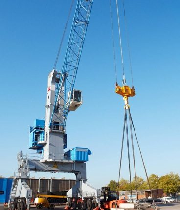 Terex Port Solutions (TPS) delivered the first 12 of a total of 24 Terex® rubber-tyred gantry (RTG) cranes to Asyaport