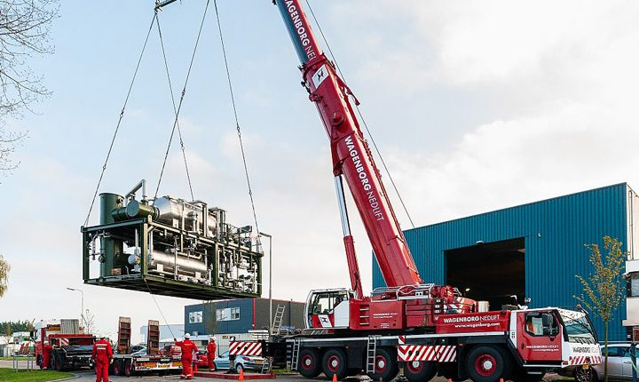Wagenborg took care of the transport of a gas treatment installation for the Donkerbroek-Hemrik Development Project in Friesland
