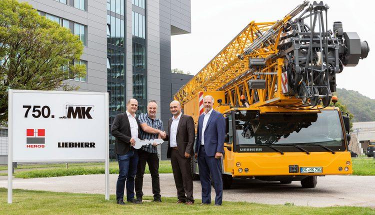 Liebherr has delivered its 750th mobile construction crane to Heros Kraanverhuur B.V.